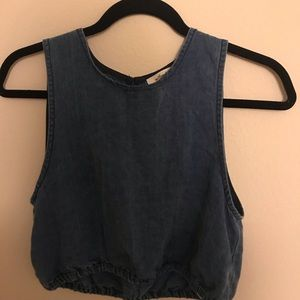 Wilfred denim crop top